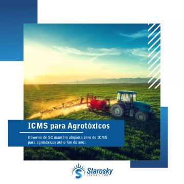 Governo de SC mantém alíquota zero do ICMS para agrotóxicos até o fim do ano!