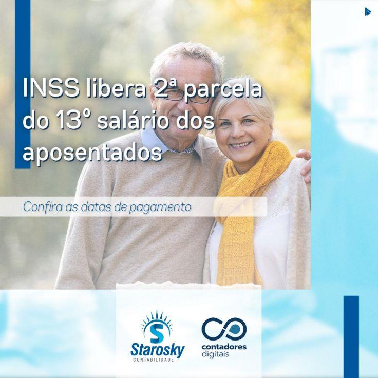 INSS libera 2ª parcela do 13º salário dos aposentados e pensionistas.