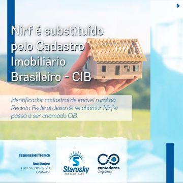 NIRF é substituído pelo Cadastro Imobiliário Brasileiro – CIB