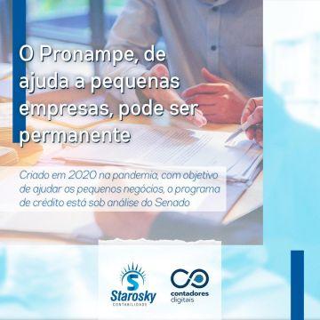O Pronampe, de ajuda a pequenas empresas pode ser permanente