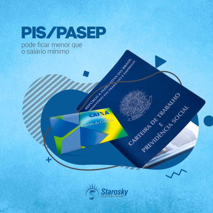 PIS/PASEP pode ficar menor que salário mínimo