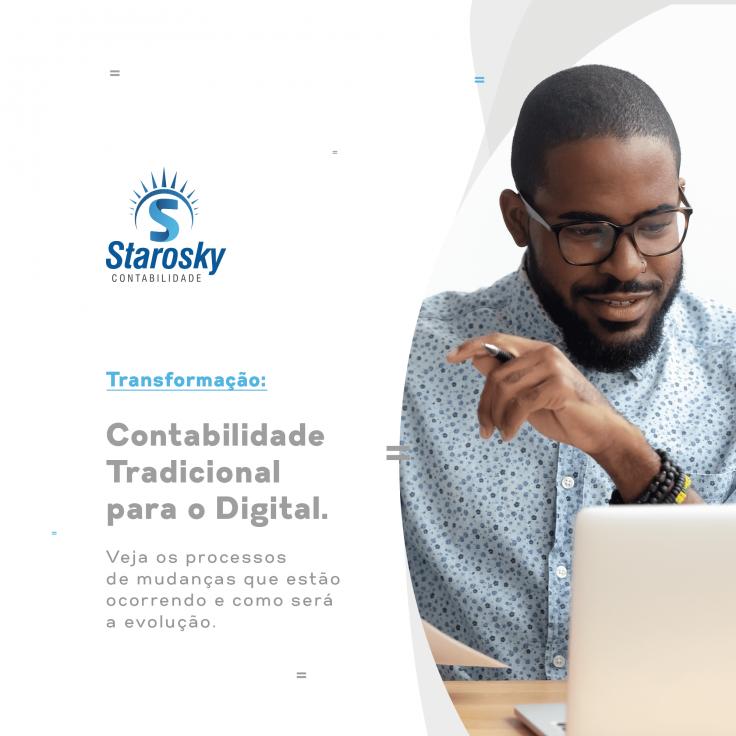 Transformação: contabilidade tradicional para contabilidade digital